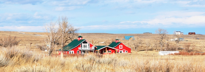 Red House in the Prairie